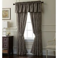 Rose Tree Portici 84-Inch Rod Pocket Window Curtain Panel Pair in Pewter
