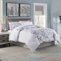 Lydia Watercolor Floral 8-Piece Full Comforter Set in Blush/Grey