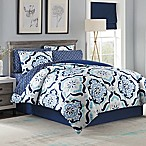 Andrea 8-Piece King Comforter Set in Blue
