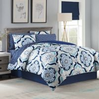 Andrea 6-Piece Twin Comforter Set in Blue