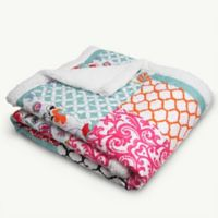 Brookdale Patchwork Throw Blanket in Purple/Turquoise