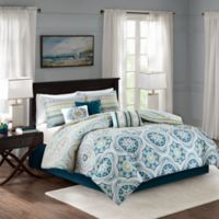 Madison Park Mercia Reversible California King Comforter Set in Navy