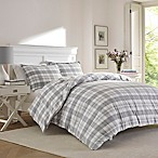 Laura Ashley® Mulholland Plaid Full/Queen Comforter Set in Grey