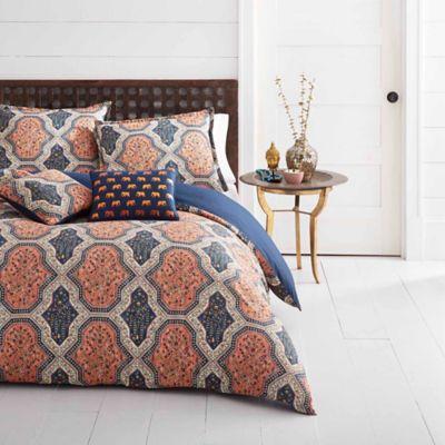 azalea skye rhea king comforter set in orange - Navy Bedding