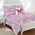 Watercolor Flutter 4-Piece Full Comforter Set