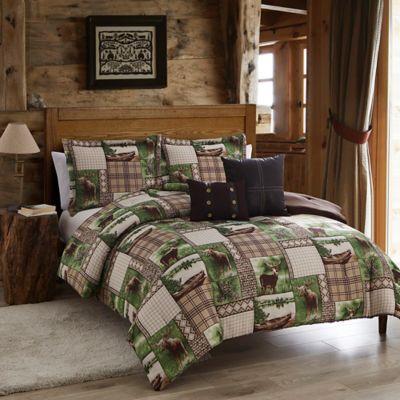Seneca Lake 5 Piece King Comforter Set In Brown/Green