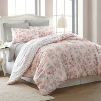 Pacific Coast Textiles Rosette 6-Piece Reversible King Comforter Set in Blush