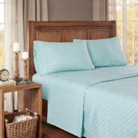 True North by Sleep Philosophy Cozy Flannel Full Sheet Set in Aqua