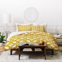 Deny Designs Heather Dutton Starbust Queen Duvet Cover Set in Yellow