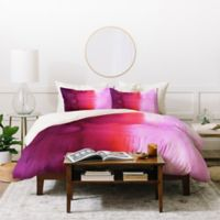 Deny Designs Amy Sia Ombre Queen Duvet Cover Set in Red