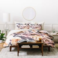Deny Designs Amy Sia Marbled Terrain Queen Duvet Cover Set in Pink