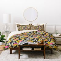 Deny Designs Holli Zollinger Zebra Mambo King Duvet Cover Set in Yellow