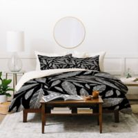 Deny Designs Heather Dutton Feathers King Duvet Cover Set in Black