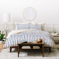 Deny Designs Emanuela Carratoni Japandi Queen Duvet Cover Set in Blue