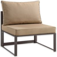Modway Fortuna Outdoor Patio Armless Sofa in Mocha/Brown