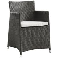 Modway Junction Outdoor Patio Arm Chair in Brown/White