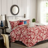 Madison Park Lucy Reversible Full/Queen Coverlet Set in Red