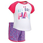 Under Armour® Size 24M 2-Piece All Day I Play T-Shirt and Short Set in White