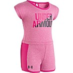 Under Armour® Size 12M Striped Romper in Pink