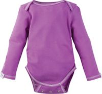 Posheez Size 6M Snap'n Grow Solid Color Long Sleeve Bodysuit in Purple
