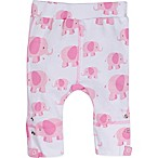 Posheez Size 6M Snap'n Grow Elephant Print Adjustable/Expandable Pant in Pink