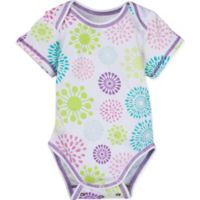 Posheez Newborn Snap'n Grow Solid Color Short Sleeve Bodysuit in Color Burst