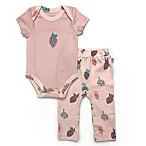Finn By Finn + Emma®  Size Size 0-3M Organic Cotton Strawberry Bodysuit and Pant Set in Pink