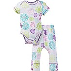 MiracleWear® Size 0-6M Posheez Snap 'n Grow Burst Short Sleeve Bodysuit and Pant Set in Purple