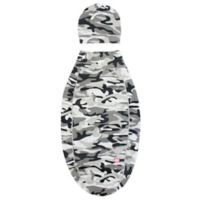 Cozy Cocoon® Size 0-3M Camouflage Swaddle and Hat Set in Grey