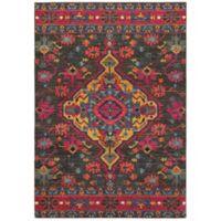 "Oriental Weavers Bohemian 3'10"" x 5'5"" Area Rug in Charcoal"