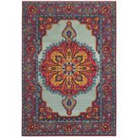 """Oriental Weavers Bohemian 5'3"""" x 7'6"""" Area Rug in Blue"""