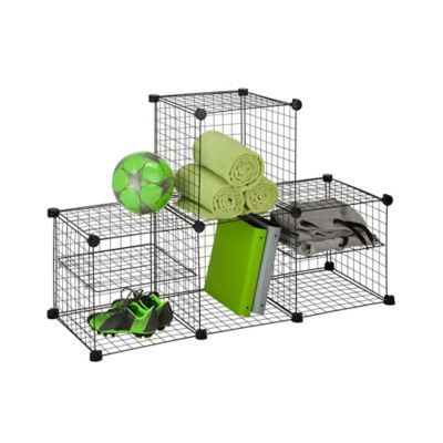 Grid Wire Modular Shelving and Storage Cubes Bed Bath Beyond
