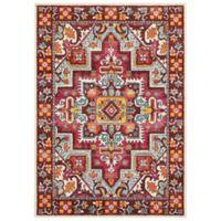 "Oriental Weavers Bohemian 3'10"" x 5'5"" Area Rug in Red"