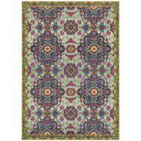 """Oriental Weavers Bohemian 3'10"""" x 5'5"""" Area Rug in Blue"""