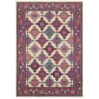 """Oriental Weavers Bohemian 3'10"""" x 5'5"""" Area Rug in Ivory"""
