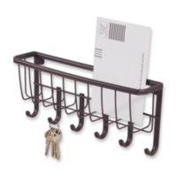 InterDesign® Wall Mount Mail & Key Rack in Bronze