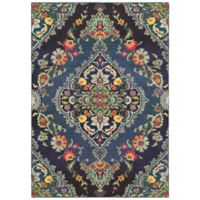 "Oriental Weavers Bohemian 3'10"" x 5'5"" Area Rug in Navy"