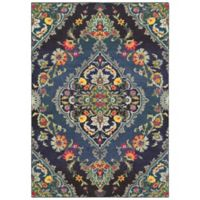 "Oriental Weavers Bohemian 7'10"" x 10'10"" Area Rug in Navy"