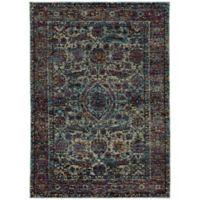 Oriental Weavers Andorra 7'10 x 10'10 Woven Area Rug in Blue