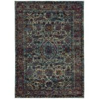 Oriental Weavers Andorra 8'6 x 11'7 Woven Area Rug in Blue