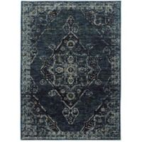 Oriental Weavers Andorra Medallion 7'10 x 10'10 Area Rug in Blue