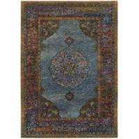 """Oriental Weavers Andorra 7'10"""" x 10'10"""" Area Rug in Blue"""