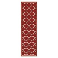 Cabana Bay Seaside Trellis 2'3 x 7'6 Indoor/Outdoor Runner in Red