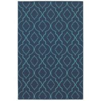 Cabana Bay Seaside Trellis 6'7 x 9'6 Indoor/Outdoor Area Rug in Navy