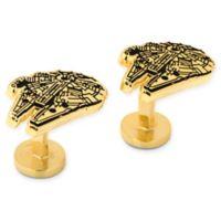 Star Wars® Gold Plated Millennium Falcon Cufflinks