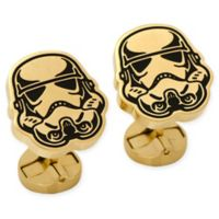 Star Wars® Stainless Steel Black and Gold Stormtrooper Cufflinks