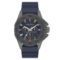 Nautica® Miami Men's 44mm Watch in Gunmetal Ion-Plated Stainless Steel