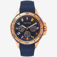 Nautica® Auckland Men's 49mm Multifunctional Watch in Rose Gold-tone Stainless Steel