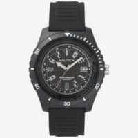 Nautica® Ibiza Sport Men's 46mm Watch in Black Resin with Black Silicone Strap