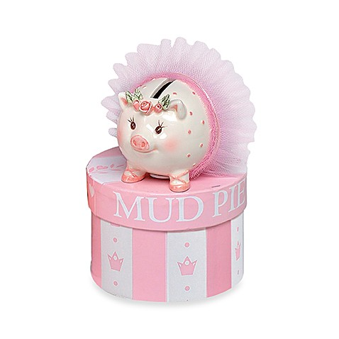 Mud pie tiny dancer mini ceramic piggy bank buybuy baby for Mini piggy banks
